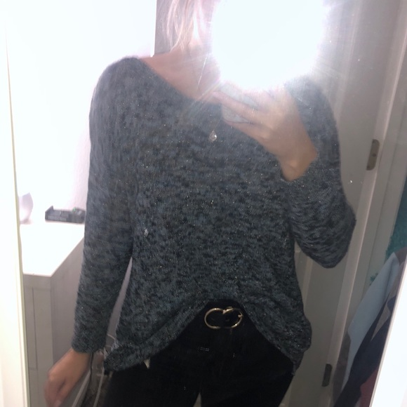 American Eagle Outfitters Sweaters - Blue Sparkle Sweater